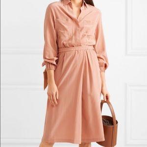 BNWT - Vince - Blush Silk Slit Dress (Size S)